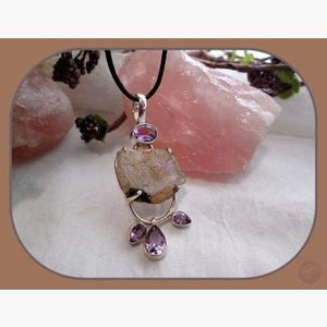Overcome Amethyst & Moonstone Sterling Silver Pendant Pendants Mystical Moons