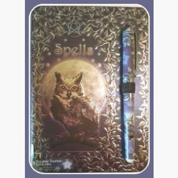 Owl Spell With Pen Journal Mystical Moons