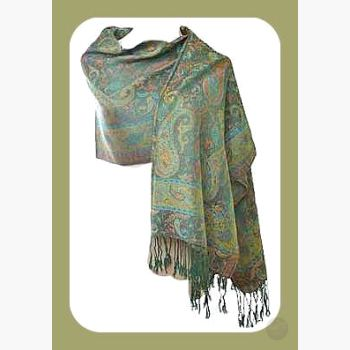 Peacock Paisley Scarf Stoles & Prayer Shawls Mystical Moons