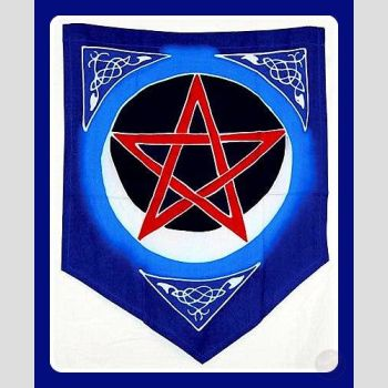 Pentacle Moon Pennant Flags Mystical Moons