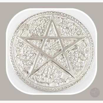 Pentagram Altar Tile Mystical Moons