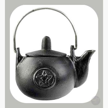 Pentagram Cast Iron Kettle Cauldrons Mystical Moons