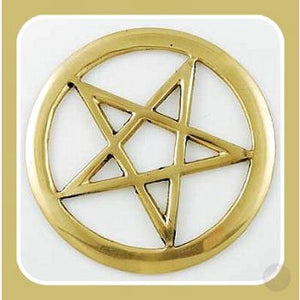 Pentagram Cut Out Altar Tile Mystical Moons
