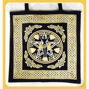 Pentagram Goddess Tote Bag Bags Mystical Moons