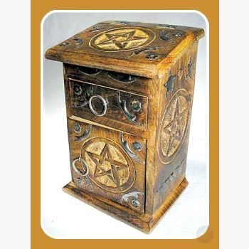 Pentagram Herb Cupboard Mystical Moons