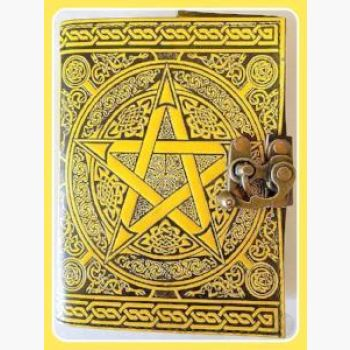 Pentagram Latched Leather Journal Journals Mystical Moons