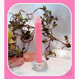 Pink Taper Candles Mystical Moons