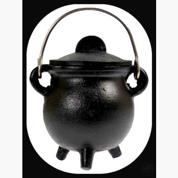 Plain Cast Iron Cauldron With Lid Cauldrons Mystical Moons