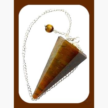 Power Stone Tigers Eye Pendulum Mystical Moons