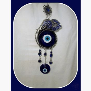 Power Wisdom Protection Elephant Evil Eye Hanging Mystical Moons