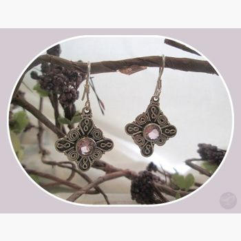 Prosperity & Good Luck Pink Kunzite Sterling Silver Earrings Mystical Moons