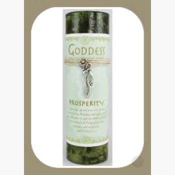 Prosperity Pillar Candle With Goddess Necklace Candles Mystical Moons