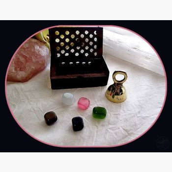 Protection Cat's Eye Travel Set Stone Sets Mystical Moons