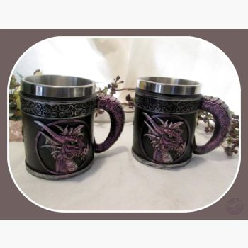Purple Bliss Dragon Tankards Mugs Mystical Moons