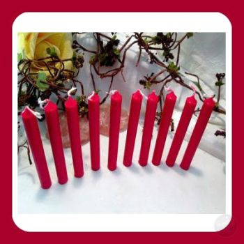 Red Chime Candles Mystical Moons