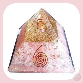 Rose Quartz & Spiral Pyramid - 70Mm Mystical Moons