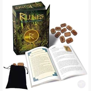 Runes: Gods Magical Alphabet Deck & Book Tarot Cards Mystical Moons