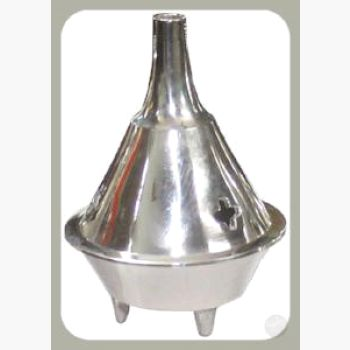 Silver Cone Brass Burner Incense Mystical Moons