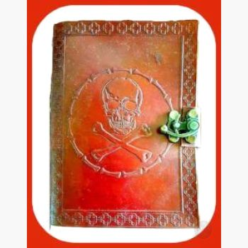Skull & Bones Latched Leather Journal Journals Mystical Moons