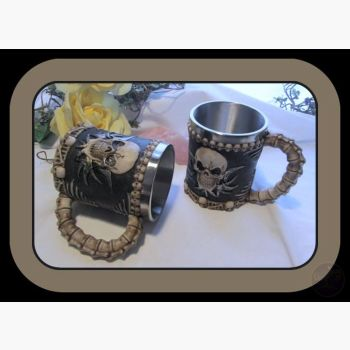 Skull & Spine Tankards Mugs Mystical Moons
