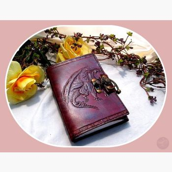 Soaring Dragon Latched Leather Journal Journals Mystical Moons