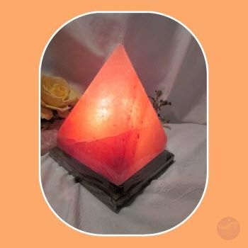 Soothing & Healing Himalayan Rock Salt Pyramid Lamp Lighting Mystical Moons