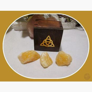 Spiritual Realm Orange Calcite Travel Set Stone Sets Mystical Moons