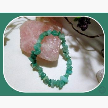 Stone Of Self Reflection & Opportunity Aventurine Chip Bracelet Mystical Moons
