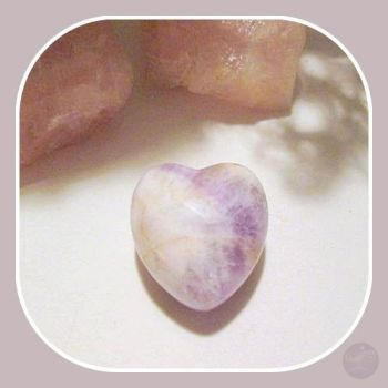 Stone Of Spirit & Integrity Chevron Amethyst Heart Hearts Mystical Moons