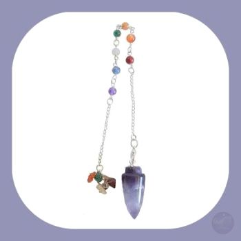 Stone Of Spiritual Growth Amethyst 7 Chakras Pendulum Mystical Moons