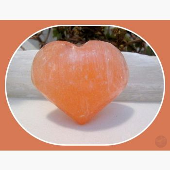 Stone Of The Moon Orange Selenite Heart Hearts Mystical Moons
