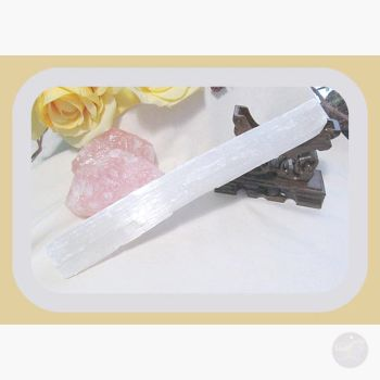 Stone Of Truth & Honesty Selenite Rod Magical Wands
