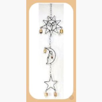 Sun Moon & Star Wind Chime Mystical Moons