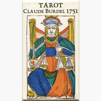 Tarot Claude Burdel 1751 Cards Mystical Moons