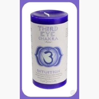 Third Eye Chakra Pillar Candle Candles Mystical Moons