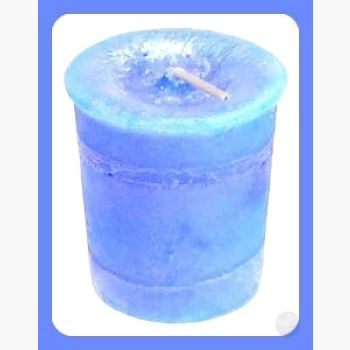 Throat Chakra Herbal Votives Candles Mystical Moons