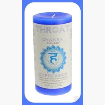 Throat Chakra Pillar Candle Candles Mystical Moons