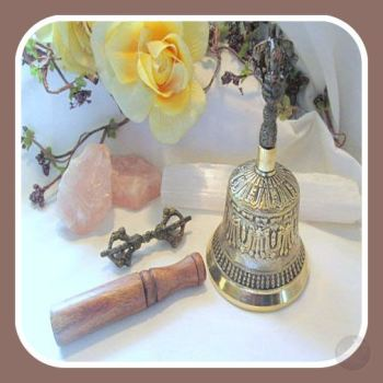 Tibetan Bell With Dorje Alter Bells Mystical Moons
