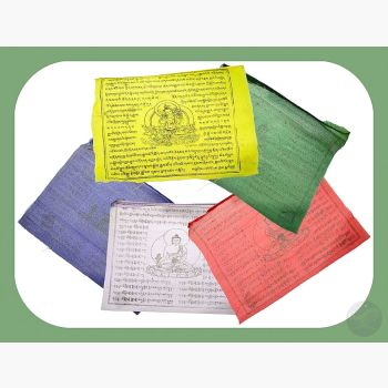 Tibetan Green Tara Prayer Flag 8 X 9 1/2 Flags Mystical Moons