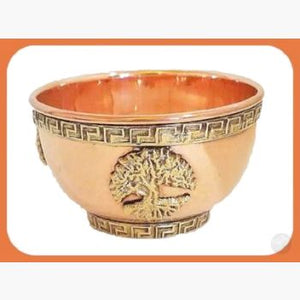 Tree Of Life Copper Brass Offering Bowl Bowls Mystical Moons