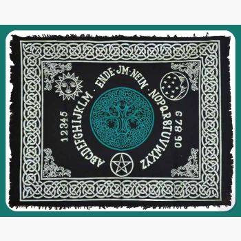 Tree Of Life Ouija-Board Altar Cloth Mystical Moons