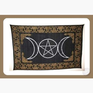 Triple Goddess Tapestry Mystical Moons