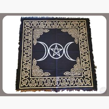 Triple Moon Altar Cloth Mystical Moons