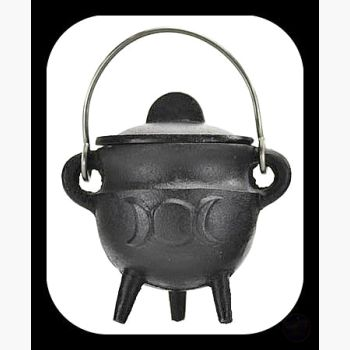 Triple Moon Cast Iron Cauldron With Lid Cauldrons Mystical Moons