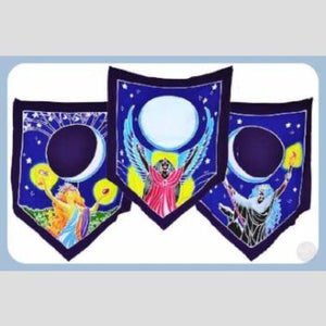 Triple Moon Goddess Prayer Flags Mystical Moons