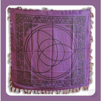 Triquetra Altar Cloth Mystical Moons