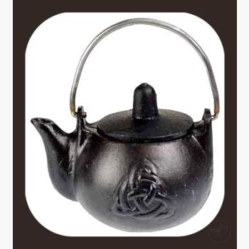 Triquetra Cast Iron Kettle Cauldrons Mystical Moons