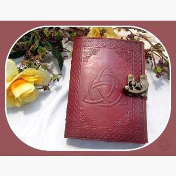Triquetra Latched Leather Journal Journals Mystical Moons