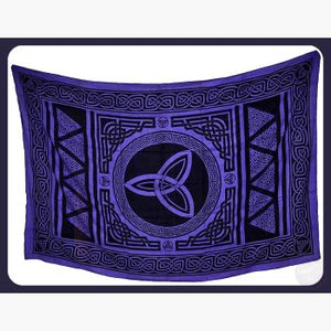 Triquetra Tapestry Mystical Moons