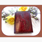 Unicorn Leather Latched Journal Journals Mystical Moons